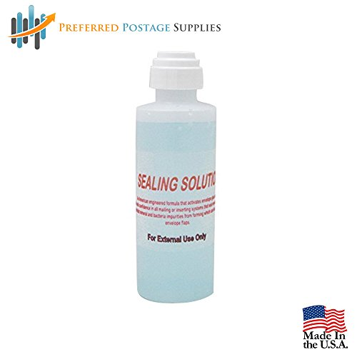 Money Saver Supply Bundle 5 Bottles of Concentrated Sealing Solution (Makes 5 Gallons) Compare To Pitney Bowes EZ Seal, (600 Postage Meter Labels) + Envelope Dabber Bottle by Preferred Postage Supplies (Image #2)