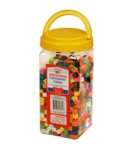 Learning Advantage 7640 Interlocking Cubes, Grade: Kindergarten (Pack of 1000) ()