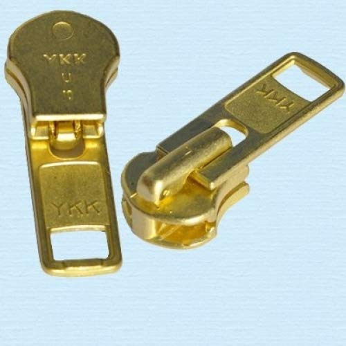 ZipperStop Wholesale Authorized Distributor YKK Zipper Repair Solution, YKK #10 Brass Slider (2 Sliders/pack) 4337006682