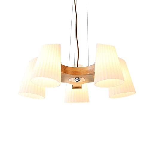 Moderno de Madera Pantalla WANZSC lámparas Cristal Techo de TlKFc1J