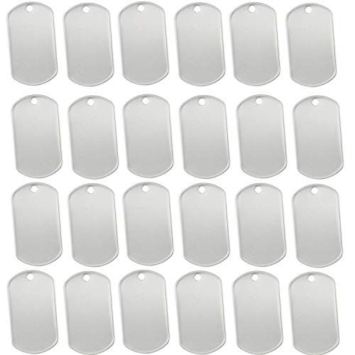 (Orgrimmar 100 pcs Shiny Stainless Steel Military spec Rolled Edge Backing Dog Tags - Blank (Pack of 100))