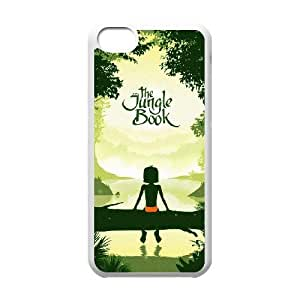iPhone 5c funda Blanco [PC dura de la funda + HD Pattern] The Jungle Book ® Series [Numeración: FHJSFOHSL6262]