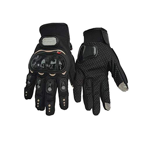 Price comparison product image Motorcycle Full Finger Gloves Offroad Racing Motocross Dirt Bike Riding Ski Scooter Gloves, Black, M