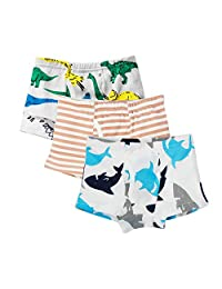 Freahap 3Pcs Kids Underwear Soft Cotton Underpants Cartoon Boys Boxer Briefs