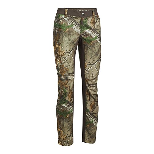 Under Armour Women's Fletching Pant,Realtree Ap-Xtra/Metallic Beige, 12