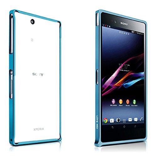 Original Ultra thin 10PCS LOVE MEI 0.7mm Aluminum Metal Bumper Frame Case Phone Cover For Sony Xperia Z Ultra XL39H --- Color:Green