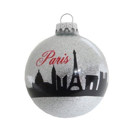 Amazon.com: Christmas Paris Ornament Holiday France Eiffel Tower Ornament  Christmas Tree Ornament (3