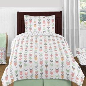 Set of 2 Sweet Jojo Designs B01N23FL4W Mint Green Window Treatment Panels