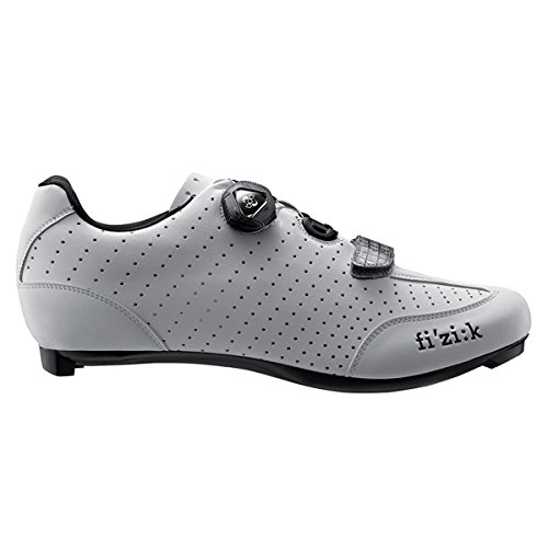 FIZIK Rennschuh R3B Uomo Obermaterial: Microtex Laser Perforated, Laufsohle: UD Carbon Fiber, Innensohle: fi'zi:k Cycling Insole, Verschluss: Boa IP1 System, Gewicht: 230g, white/black, Gr. 46,5