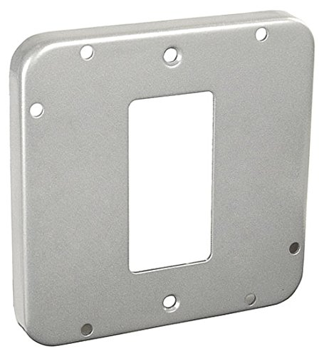 4-11/16 Inch Square 1/2 Inch Raised Decorative Or Gfci Receptacle Industrial Surface Cover-1 per case