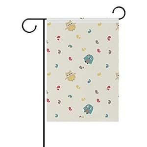 bennigiry Trendsetter búho poliéster banderines de jardín 12X 18inch, bandera de Jardín de temporada para al aire libre bandera decoración para boda, Multicolor, 12x18(in)