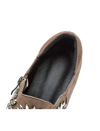 GGX/ Damen-High Heels-Outddor / Büro / Lässig-Wildleder / Kaschmir-Keilabsatz-Wedges / Komfort / Gladiator / Stile / Spitzschuh / Geschlossene black-us5 / eu35 / uk3 / cn34