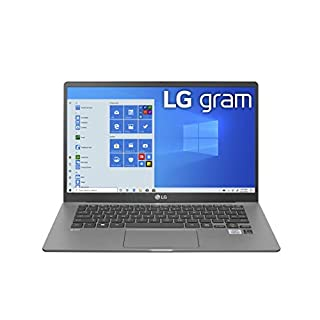 "LG Gram Laptop - 14"" Full HD IPS Display, Intel 10th Gen Core i7-1065G7 CPU, 16GB RAM, 512GB M.2 MVMe SSD, Thunderbolt 3, 18.5 Hour Battery Life - 14Z90N (2020)"