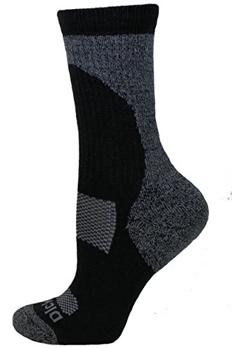 Dickies Curved All Season Wool Blend Crew Socks, Black, 1 Pair - Womens Dickies Black Soft Toe