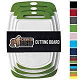 GORILLA GRIP Original Reversible Cutting Board (3-Piece), BPA Free,...