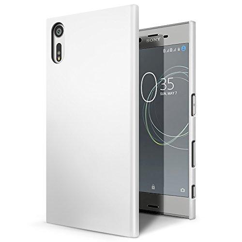 SLEO Sony Xperia XZ / XZs Case - Rubberized Hard PC Back Case Cover for Sony Xperia XZ / XZs Phone - White (Rubberized Back Cover)