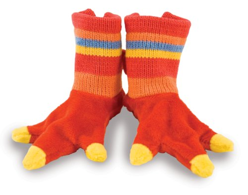 Rich Frog Beastly Dino Baby Booties Socks, Red - up to 6 mo