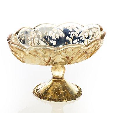 Carraway Gold Mercury Glass Flower Vase4.25