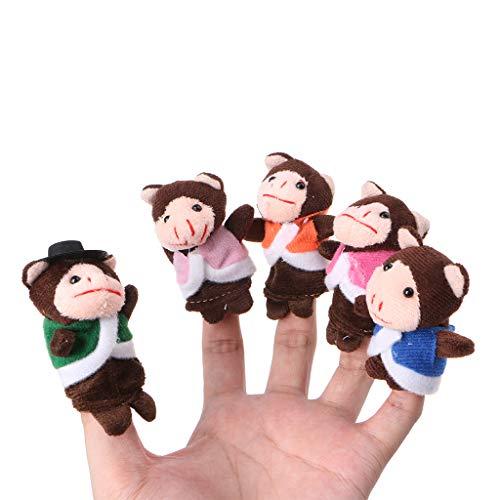 [해외]yuanhaourty 7Pcs Cartoon Animal Finger Puppet Monkey Dolls Hand Puppets Set Mini Plush Baby Story Telling Hand Cloth Doll Educational Toys / yuanhaourty 7Pcs Cartoon Animal Finger Puppet Monkey Dolls Hand Puppets Set Mini Plush Bab...