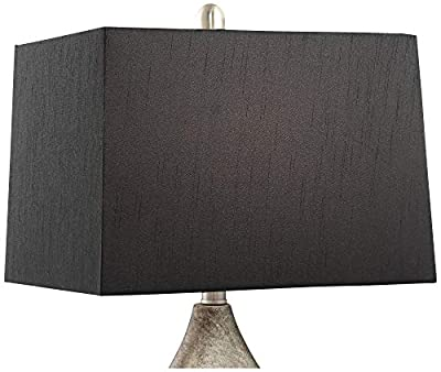 Marco Modern Table Lamps Set of 2 with Black Rectangular Shade for Living Room Family Bedroom Bedside Nightstand Office - Regency Hill