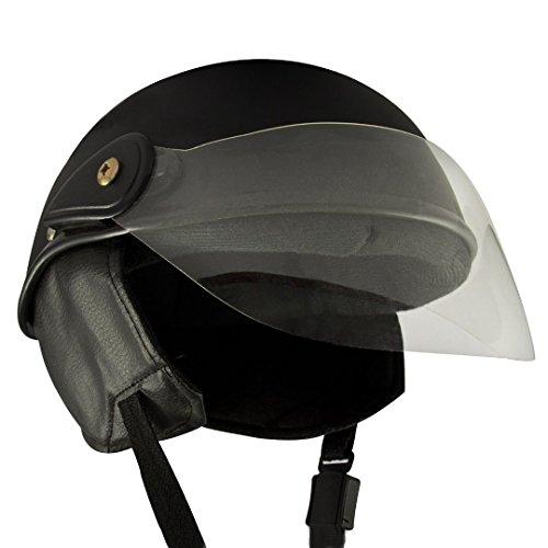 Anokhe Collections PC Shell Racing Master Half Helmet (Matte Black, Medium)