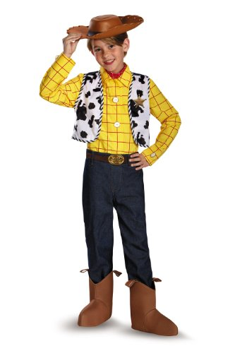 [Disguise Disney Pixar Toy Story and Beyond Woody Prestige Boys Costume, X-Small/3T-4T] (Woody Costume Hat)