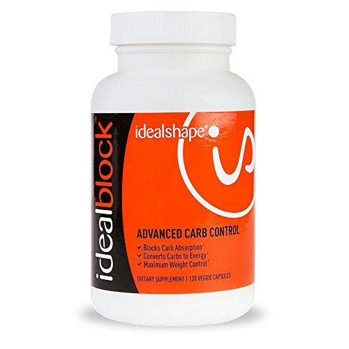 IdealBlock (frasco solo) por IdealShape. La píldora de Control avanzado de carbohidratos. Bloquea la absorción de carbohidratos, convierte los carbohidratos en energía y maximiza el Control de peso. Quemar el almacenamiento de grasas con 60 píldoras/botel