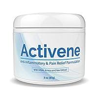 ACTIVENE Arnica Gel Cream - con mentol y MSM | Alivio del dolor para articulaciones, tendones y dolores musculares | Elegido por los enfermos de artritis, fibromialgia, fascitis plantar, rodilla, hombro, cuello, dolor de espalda 3 oz