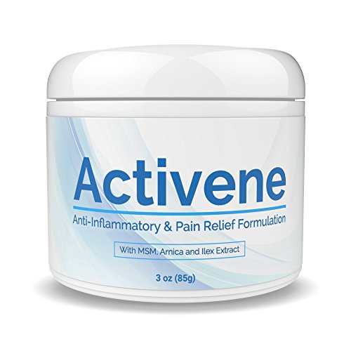 (ACTIVENE Arnica Gel Cream - with Menthol and MSM | Pain Relief for Joint, Tendon & Muscle Pains | Chosen by sufferers of Arthritis, Fibromyalgia, Plantar Fasciitis, Knee, Shoulder, Neck, Back Ache 3oz)