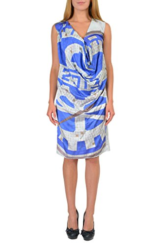 Maison Martin Margiela Silk Multi-Color Sleeveless Sheath Dress US M IT 42 (Dresses Martin Women Margiela)