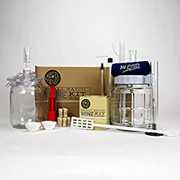 Master Vintner Small Batch Wine Making Equipment Starter Kit with 1 Gallon Chardonnay Recipe Kit