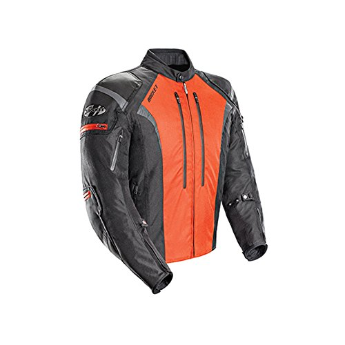(Joe Rocket Atomic 5.0 Men's Textile On-Road Motorcycle Jacket - Black/Orange/Large)