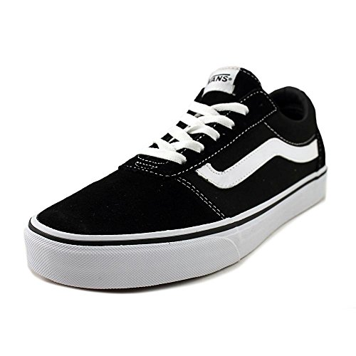 Vans Women's Ward Suede/Canvas Low-Top Sneakers, Black ((Suede/Canvas) Black/White Iju), 8.5 ()
