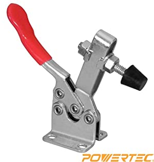 POWERTEC 20302 Horizontal Quick-Release Toggle Clamp, 300 lbs Capacity, 201B