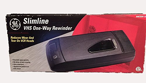 GE Slimline VHS One-Way Rewinder by GE