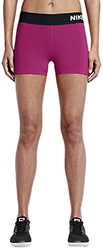 Nike Women's Pro Cool 3-Inch Training Shorts (Black/Fresh Mint/X-Small) by Nike