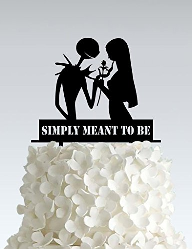 Acrylic Wedding Cake Topper - Nightmare Before Christmas - Simply neant to (Nightmare Before Christmas Wedding Decorations)