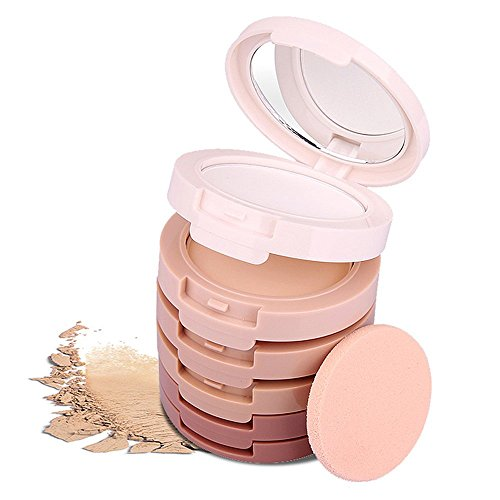 Ucanbe Contouring Kit Face Powder Contour Palette Highlighting Concealing Bronzer Set (White Face Makeup Powder)