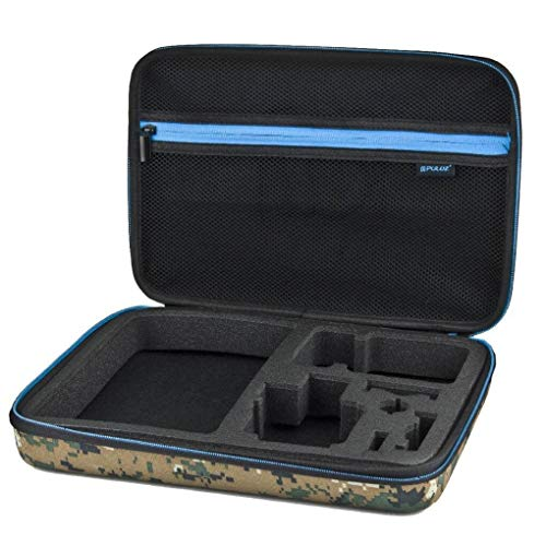Yongse PULUZ PU169 Camouflage Pattern Waterproof Carrying Travel Storage Case Box for Action Sportscamera (Camera Camouflage Case)