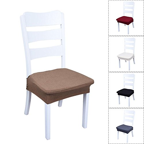 sweetyhomes Stretch Waterproof Dining Chair Protector Slipcover - Removable Washable Cover Seat Slipcover Furniture Protectors Chair Cover for Dining Room Party Living Room Wedding
