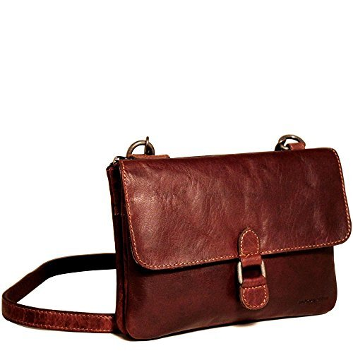 Jack Georges Voyager Wallet On A String Purse - Brown