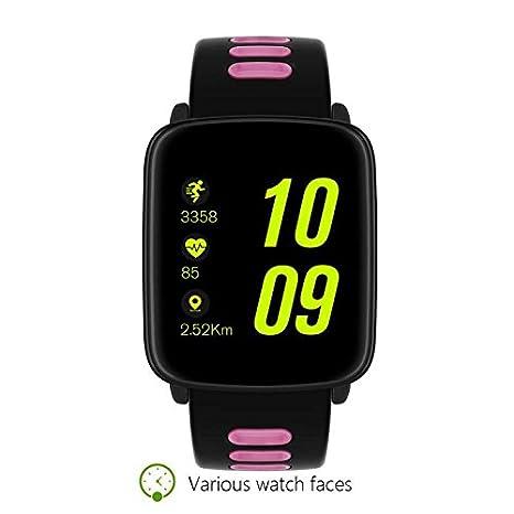 Smart Watch Intelligent Relojes de Bluetooth Pulsera, Pulsómetro Ritmo Reloj Fitness Podómetro,Sueño,