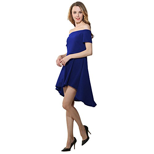 Toimothcn Women Off Shoulder High Low Skater Cocktail