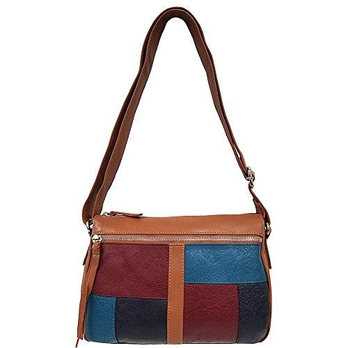 great-american-leatherworks-mixed-media-leather-top-zip-crossbody-tan-jewel