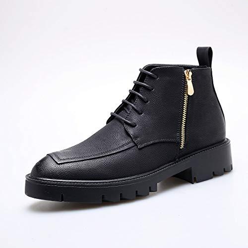 LOVDRAM Stiefel Männer Winter Männer Hohe Männer Schuhe Mode Verdicken Warme Martin Stiefel Männer Hohe Männer Stiefel Mode Herrenmode Stiefel