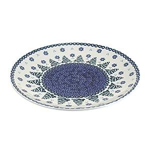Blue Rose Polish Pottery Festive Fir Dinner Plate