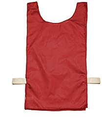 Champion Sports Heavyweight Pinnie, Youth Size, Bright Red