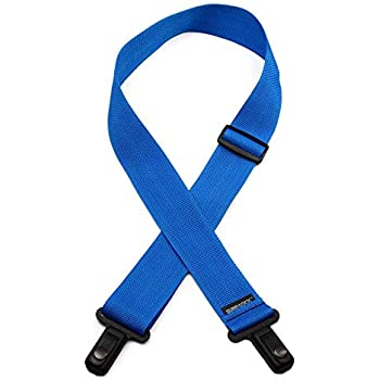 LM Products Surelock Nylon Guitar Strap Light Blue