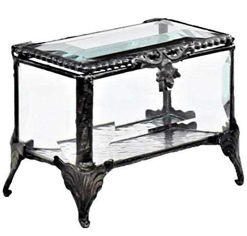 - J Devlin Box 310 Clear Glass Box Trinket Box Decorative Keepsake Gift Crystal Beveled