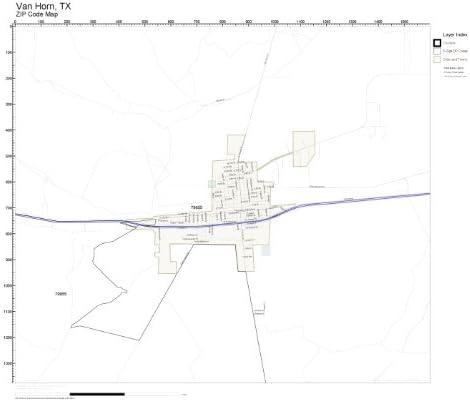 Van Horn Texas Map Amazon.com: ZIP Code Wall Map of Van Horn, TX ZIP Code Map Not